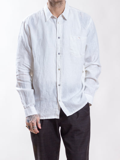Uncle Bright, Cooper Linen, White, shirt