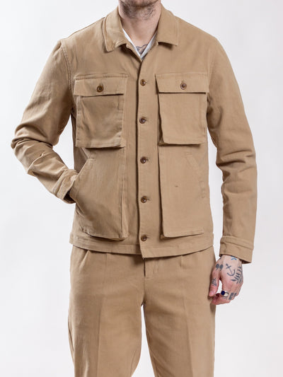 Uncle Bright, Jean Twill, Khaki, overshirt