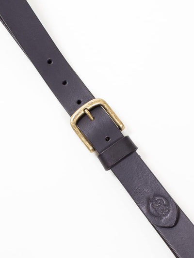 Oaks & Phoenix, Dress Belt, Black/ Antique Brass