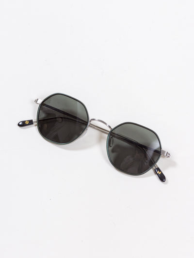 Dick Moby, Lacarna, Cedar Brushed Silver green lenses, eyewear sunglasses