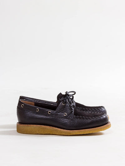 Uncle Bright, Native Boatshoe, Black