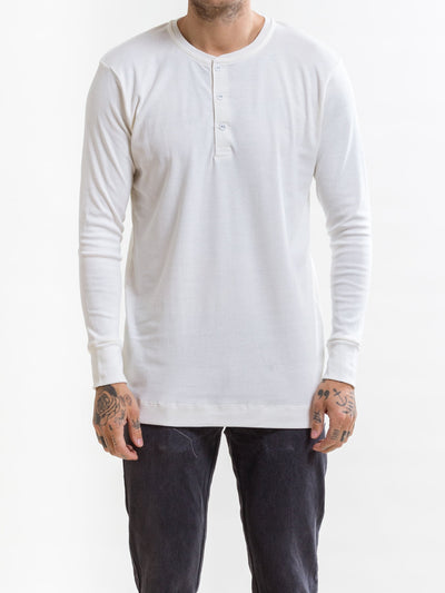 Victory, LS Henley 200, Off-White