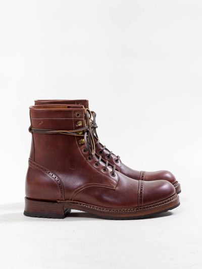 Uncle Bright, Combat Boot, Chestnut Brown
