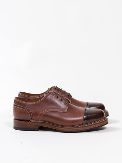 Uncle Bright, Combat Shoe, Deep Brown/ High Shine Cognac