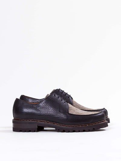 Uncle Bright, Y-Tip Shoe, Black Fullgrain/ Wolf