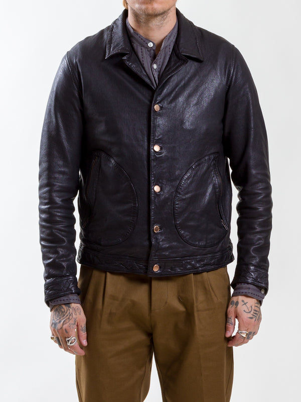 Uncle Bright, Murdock, Black, leather jacket