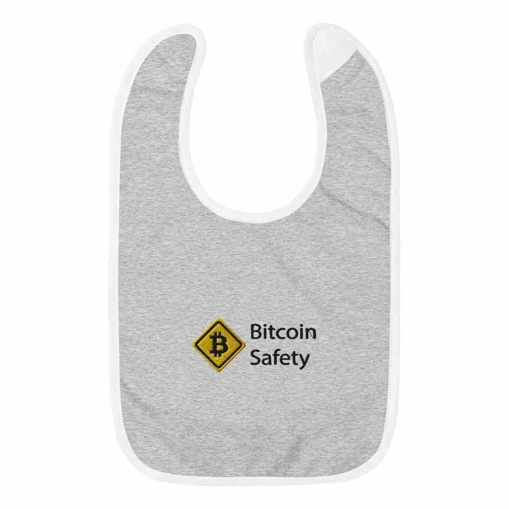 Embroidered Bitcoin Safety Baby Bib