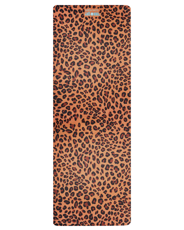 Leopard Print Yoga Mat with Micro-crystal Technology