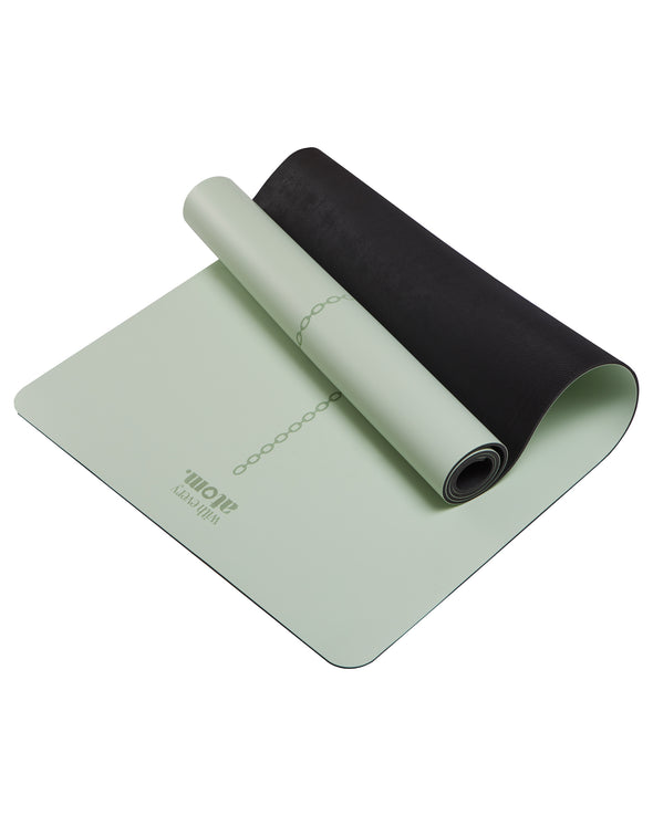 Natural Rubber Alignment Yoga Mat in Mint.