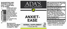 Load image into Gallery viewer, Ada's Natural Market - Anxiet-Ease (1oz Tincture / 30 servings) - $0.67/serving*