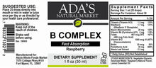 Load image into Gallery viewer, Ada's Natural Market - Liquid Vitamin B-Complex (Alcohol Free) (1oz Tincture / 30 servings) - $0.48/serving*