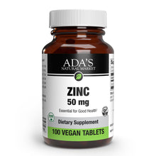 Load image into Gallery viewer, Ada's Natural Market - Zinc 50 mg Tablets (100ct / 100 servings) - $0.07/serving*