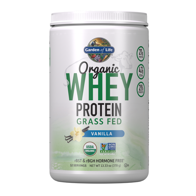 Garden of Life - Organic Whey Protein Vanilla 13.33oz (378g / 12 servings) Powder - $2.39/serving*