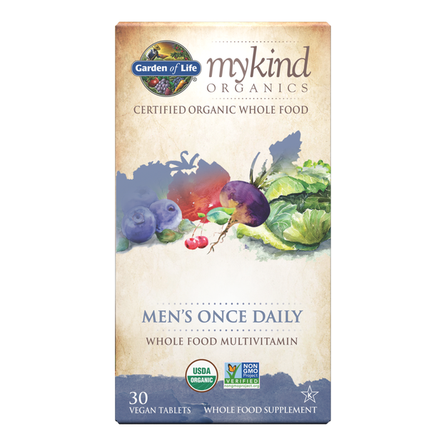 Garden of Life - mykind Organics Men's Once Daily Multivitamin Tablets (30ct / 30 servings) - $0.75/serving*