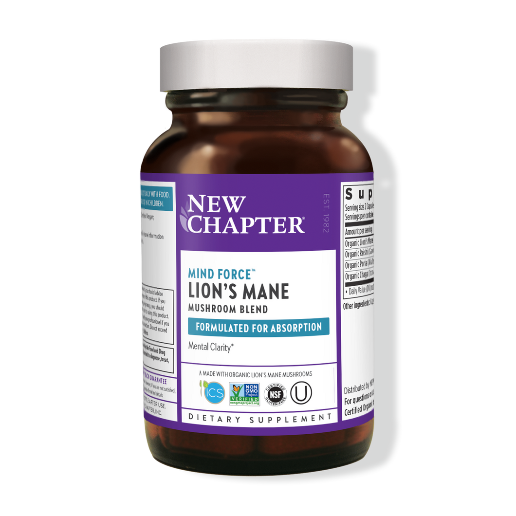 New Chapter - Mind Force™ Lion's Mane Mushroom Blend (60ct / 30 servings) - $0.76/serving*