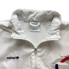 Load image into Gallery viewer, Vintage 80s adidas White Shell Jacket, Size L.