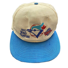 "Load image into Gallery viewer, Vintage 1992 Toronto Blue Jays World Champions ""World Series"" Snapback Cap."