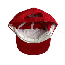 "Load image into Gallery viewer, Vintage Coca Cola ""The Music"" Red Strap-back 7 Panel Cap."