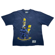Load image into Gallery viewer, Vintage 1998 Simpsons Men In Black T-shirt, Size XL.