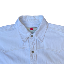 Load image into Gallery viewer, Vintage Levis White Denim Shirt, Size M.