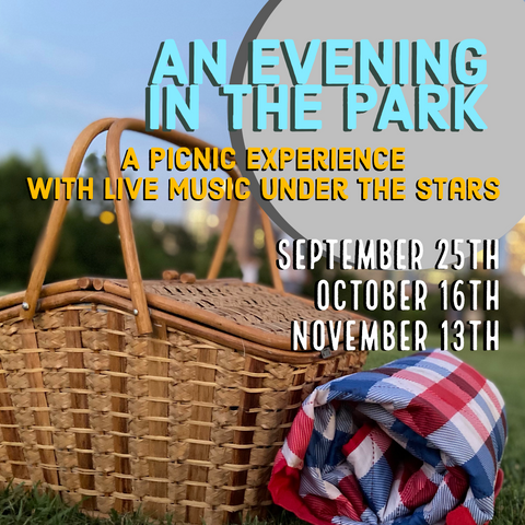 event banner for Saturday picnics in Houston with live music
