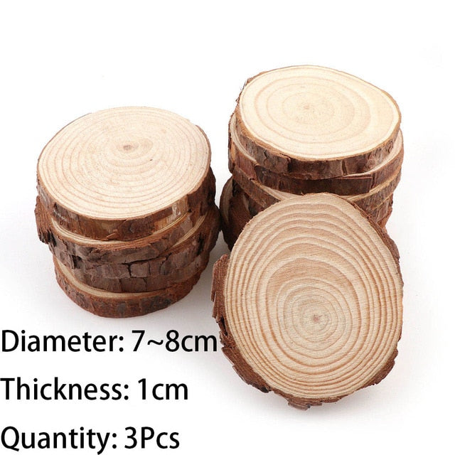 3 12cm Thick 1 Pack Natural Pine Round Unfinished Wood Slices Circles Tkshop