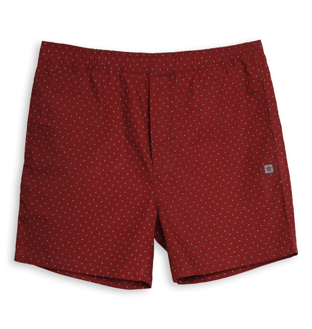 Black Check & Maroon Print Cotton Boxers For Men (Pack of 2)