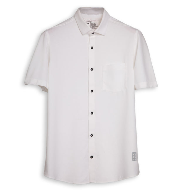 Half Sleeve White Shirt for Men
