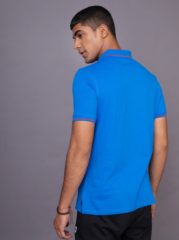 Royal Blue & Yellow Polo T-shirt For Men (Pack of 2)