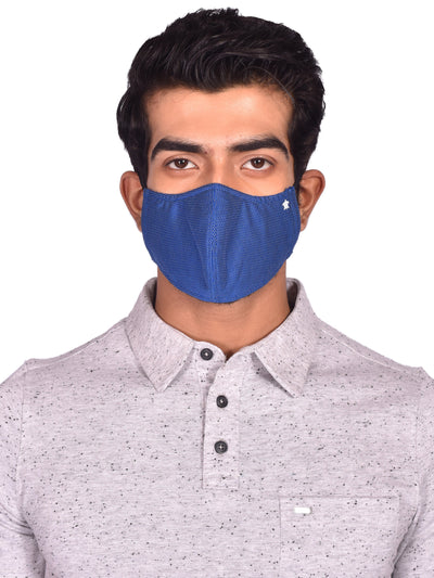 Dot Print Reusable 3-Ply Facemasks for Men (Pack of 3)
