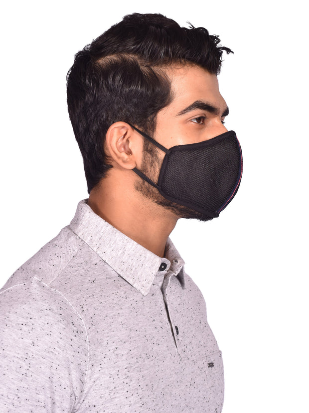 Protective Reusable Black Facemasks for Men