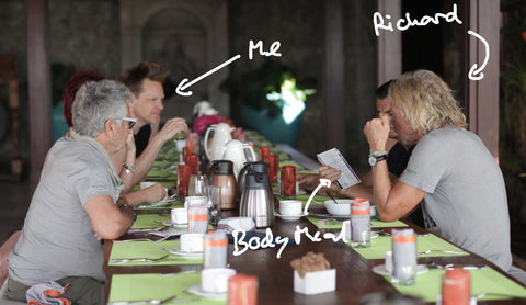 Me, Richard, and Body Meal® on Necker Island