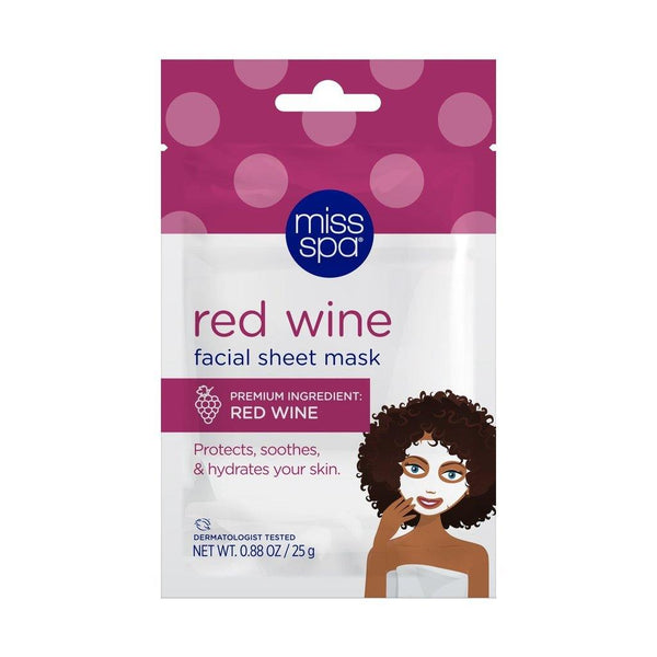 MISS SPA - Red Wine Facial Sheet Mask - Miss Spa HK