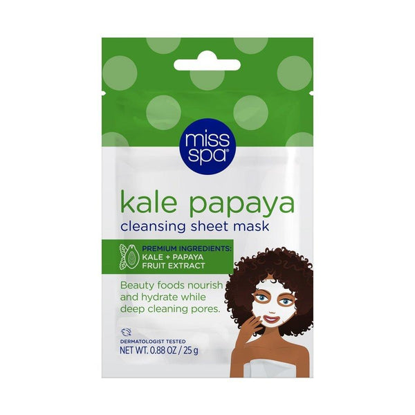 MISS SPA - Kale Papaya Cleansing Sheet Mask - Miss Spa HK