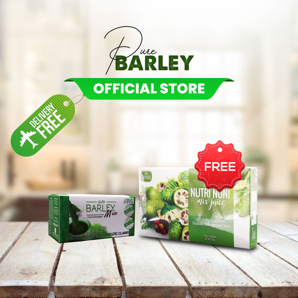 1 Box Gofit Barley Mix Juice get 1 box Nutri Noni Free ✅