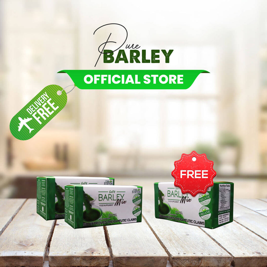 2 Boxes Gofit Barley Mix Juice get 1 box Free ✅