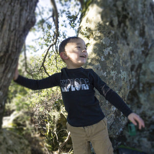 Explore Tee - Kids - Obsidian Black