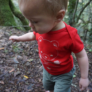 Cub & Star Baby Lap Tee - Red Wagon