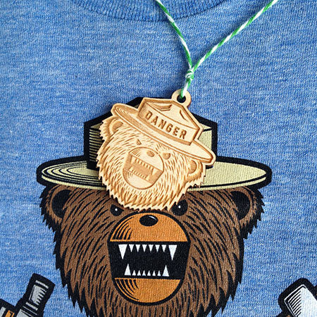 Danger Ranger Bear Kids Tee - Brook Blue