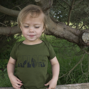 Explore Onesie - Baby Sizes - Moss Green
