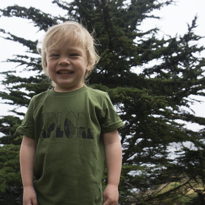 Explore Tee - Kids - Moss Green