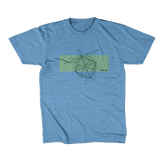 Save The Critters Hawksbill Turtle Kids Tee - Brook Blue
