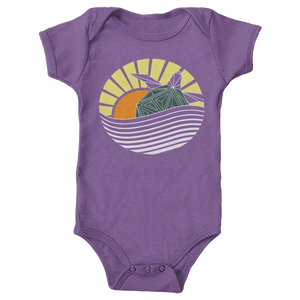 Hawksbill Turtle - Sunset Edition - Baby Onesie