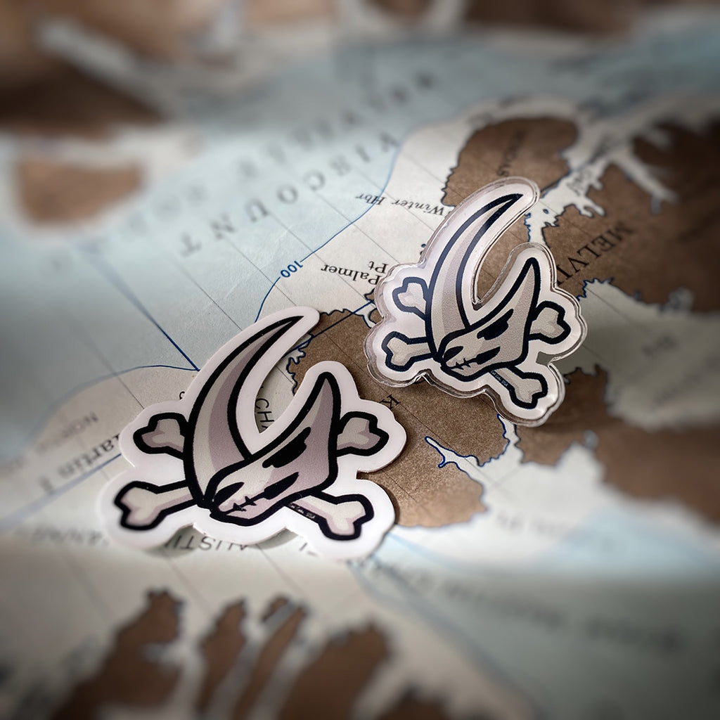 Mudhorn Crossbones Sticker & Acrylic Pin