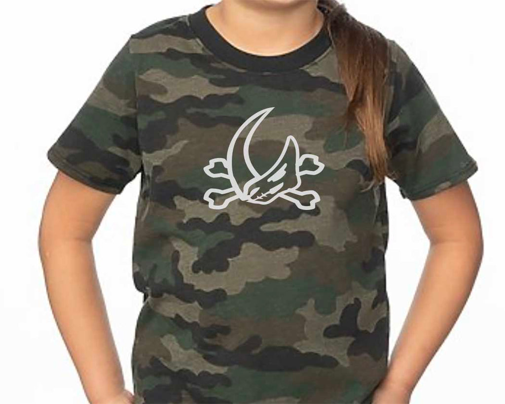Mudhorn Crossbones Camo Tee - Kids Sizes