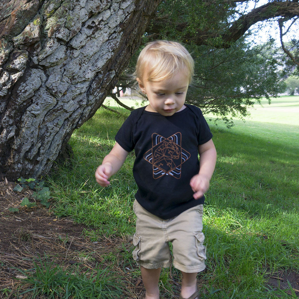 Save The Critters Amur Leopard Baby Lap Tee & Onesies - Obsidian Black