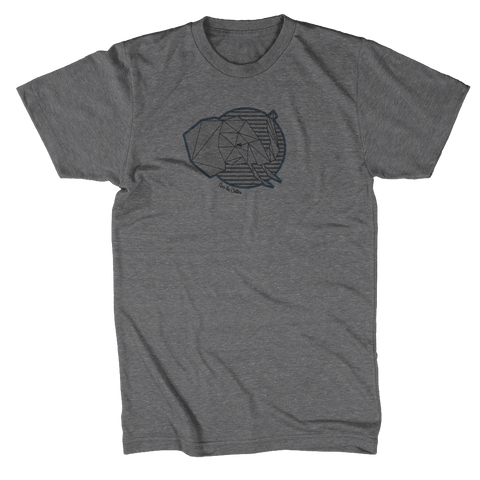 Save The Critters Elephant Adult Tee - Granite Gray
