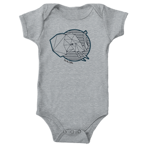 Save The Critters African Elephant Infant Onesie - Moon Rock Gray