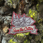 Save The Critters Rhino Badge - Granite Gray
