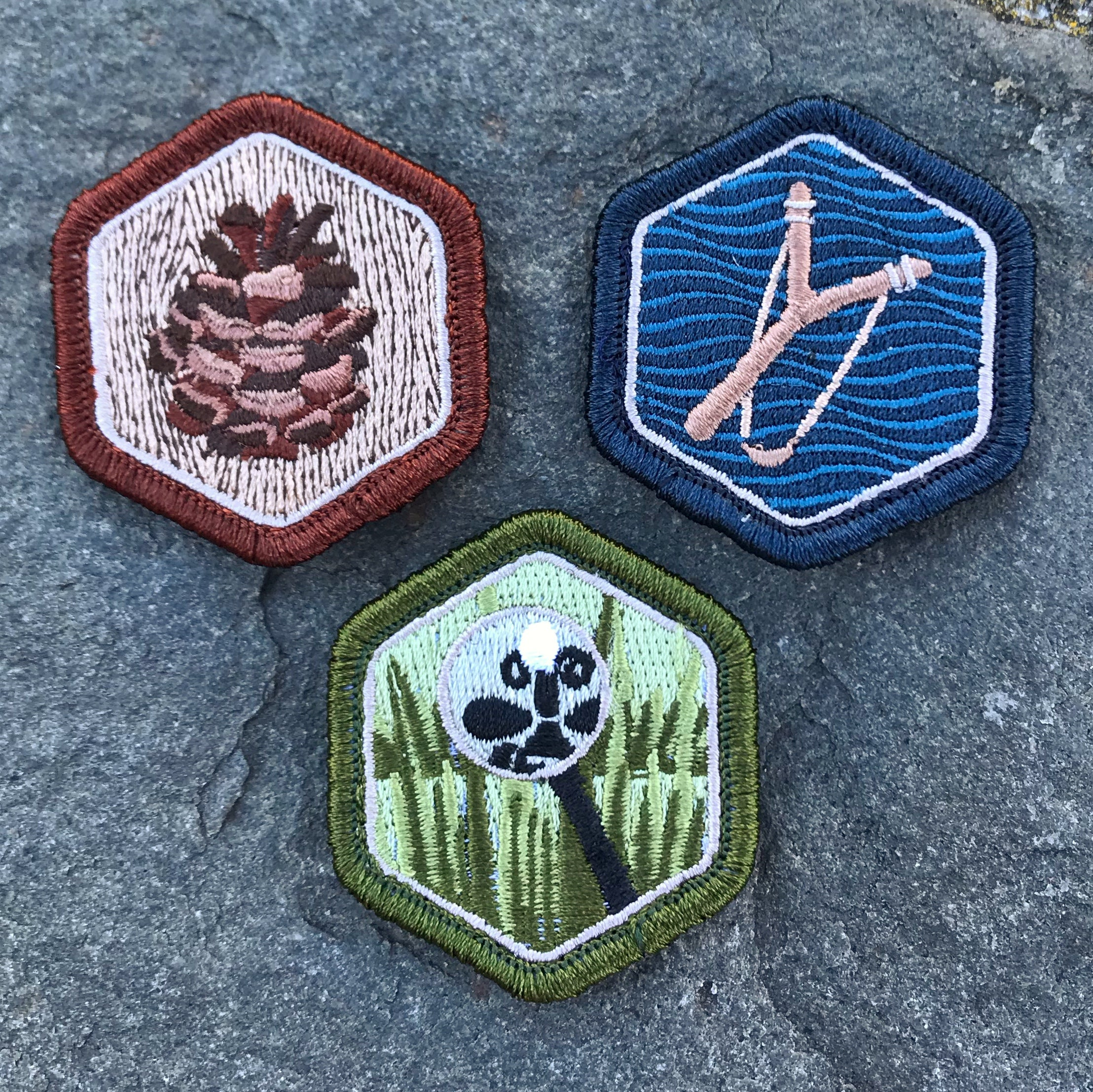 Rough & Tumble Summer Trio Mini Badge Collection